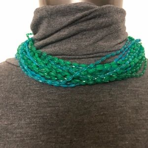 Jewelry - Vintage blue & green multi strand necklace